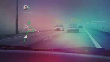 Η τεχνολογία AR στο παρμπρίζ του αυτοκινήτου