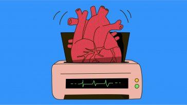 Καρδιά βγαλμένη από 3D printer