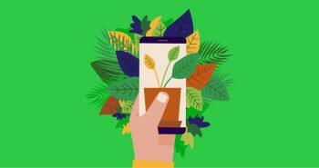 Garden Apps: Κηπουρός με το smartphone στο χέρι